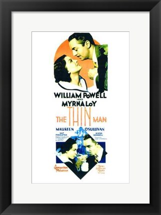 Framed Thin Man - tall Print