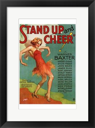 Framed Stand Up Cheer Print