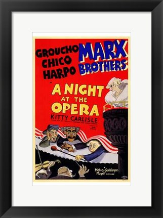 Framed Night At the Opera Groucho Chico Harpo Print