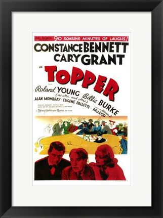 Framed Topper - Cary Grant Print