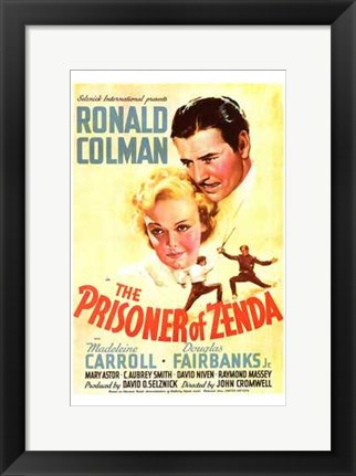 Framed Prisoner of Zenda Print