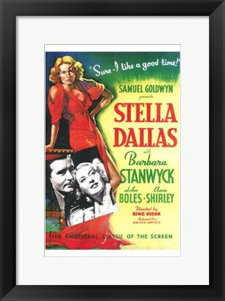 Framed Stella Dallas Print