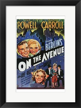 Framed On The Avenue Print