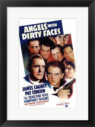 Framed Angels with Dirty Faces Cast Print