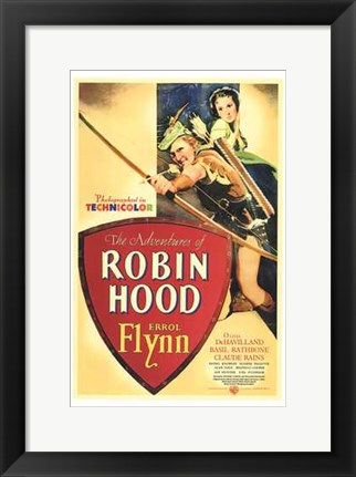 Framed Adventures of Robin Hood Shooting Arrow Print