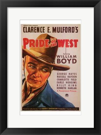 Framed Pride of the West Print