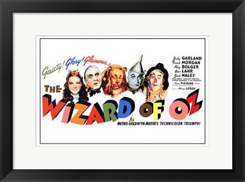 Framed Wizard of Oz Horizontal Print