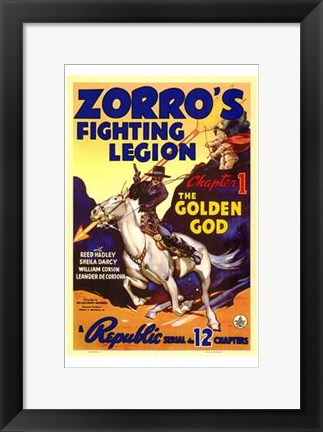 Framed Zorro's Fighting Legion Print