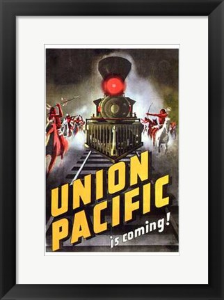 Framed Union Pacific Print