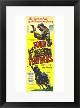 Framed Four Feathers Print