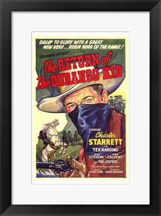 Framed Return of the Durango Kid Print