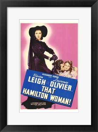 Framed That Hamilton Woman Vivien Leigh Print