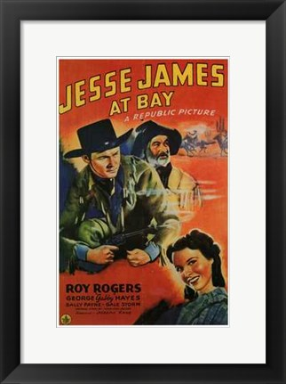 Framed Jesse James At Bay Print