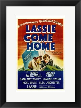 Framed Lassie Come Home Print