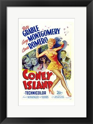 Framed Coney Island Betty Grable Print