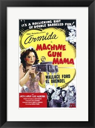 Framed Machine Gun Mama Print