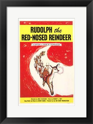 Framed Rudolph the Red Nosed Reindeer Print