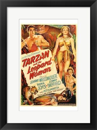Framed Tarzan and the Leopard Woman, c.1946 - style A Print