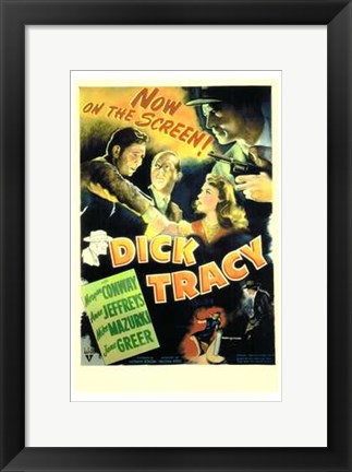 Framed Dick Tracy  Detective Print