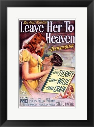 Framed Leave Her to Heaven Print