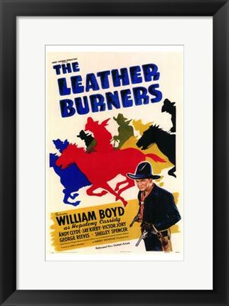 Framed Leather Burners Print