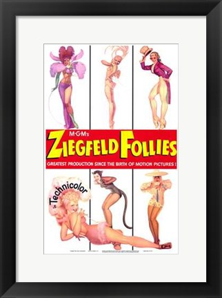 Framed Ziegfeld Follies posing Print