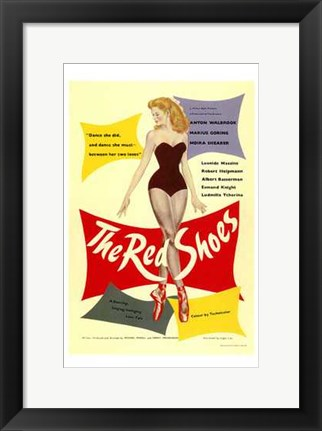 Framed Red Shoes Print