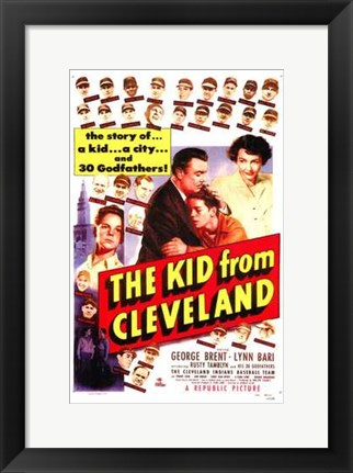 Framed Kid from Cleveland Print