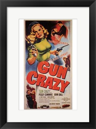 Framed Gun Crazy Peggy Cummins Print