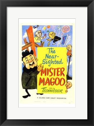 Framed Near Sighted Mr Magoo Print