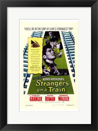 Framed Strangers on a Train Print