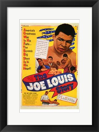 Framed Joe Louis Story Print