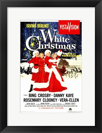 Framed White Christmas Print