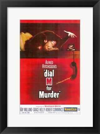 Framed Dial M for Murder Print
