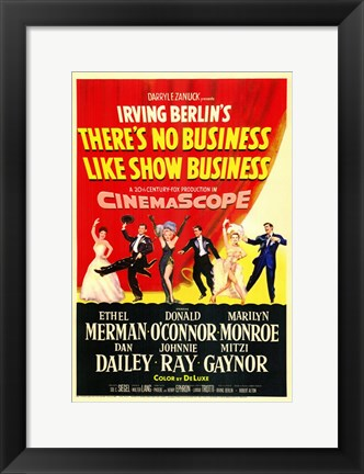 Framed There's No Business Like Show Business Ethel Merman Print