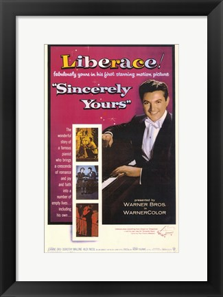 Framed Sincerely Yours Print