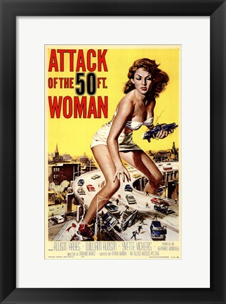 Framed Attack of the 50 Foot Woman Print