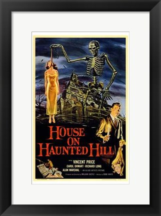 Framed House on Haunted Hill Print