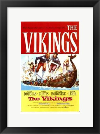 Framed Vikings (movie poster) Print
