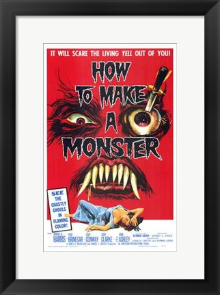 Framed How to Make a Monster Print