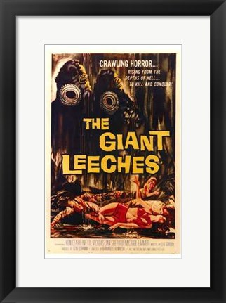 Framed Attack of the Giant Leeches Print