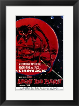 Framed Angry Red Planet Print