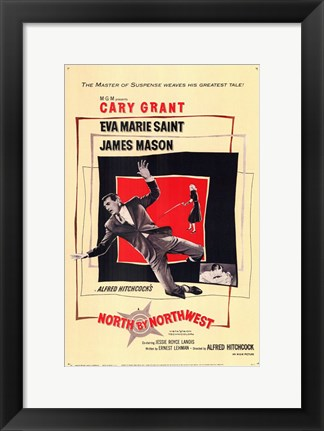 Framed North By Northwest Falling Print