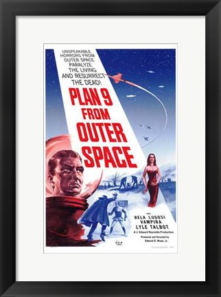 Framed Plan 9 from Outer Space Print