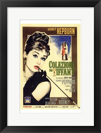 Framed Breakfast At Tiffany's (italian) Kissing Print