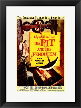 Framed Pit and the Pendulum Print