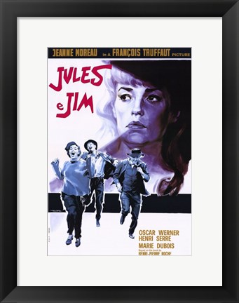 Framed Jules and Jim Oscar Werner Print
