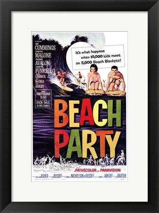 Framed Beach Party Print