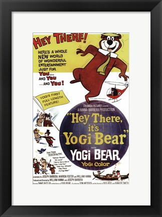 Framed Hey There It's Yogi Bear Butler And Messick Print