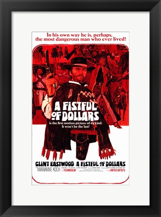 Framed Fistful of Dollars  a Print